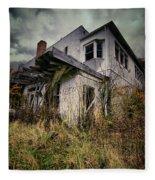 Abandoned Hotel Hdr Fleece Blanket