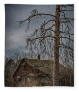 Abandoned House Fleece Blanket