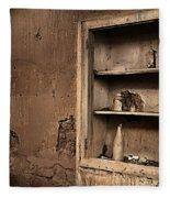 Abandoned Kitchen Cabinet B Fleece Blanket