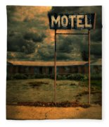 Abandoned Motel Fleece Blanket