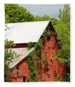 Abandoned Old Barn Fleece Blanket
