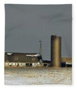 Abandoned On Keystone Fleece Blanket