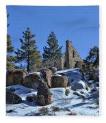 Abandoned On The Mountain Fleece Blanket