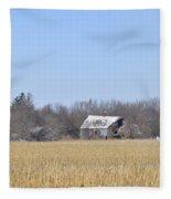 Abandoned Panoramic Fleece Blanket