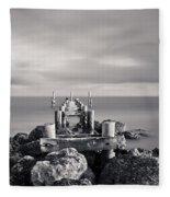 Abandoned Pier Fleece Blanket