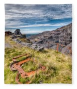 Abandoned Slate Quarry Fleece Blanket