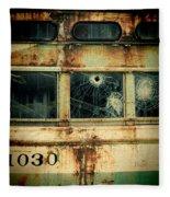 Abandoned Train Car Fleece Blanket