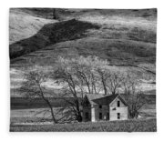 Abandoned Two-story Farmhouse - P Road Nw - Waterville - Washington - May 2013 Fleece Blanket
