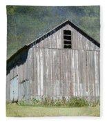 Abandoned Vintage Barn In Illinois Fleece Blanket