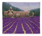 Abbaye Notre-dame De Senanque Fleece Blanket