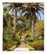 Abbey Gardens Of Tresco On The Isles Of Scilly Fleece Blanket