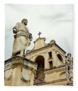 Abbey Statues Fleece Blanket