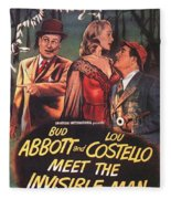 Abbott And Costello Meet The Invisible Man  Fleece Blanket
