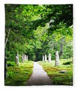 Abby Aldrich Rockefeller Path Statuary Fleece Blanket
