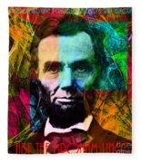 Abe The Broham Lincoln 20140217 Fleece Blanket