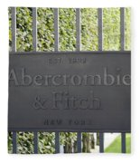 Abercrombie And Fitch Store In Paris France Fleece Blanket