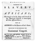 Abolitionist Tract, 1776 Fleece Blanket