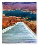 Above Lake Mead By Diana Sainz Fleece Blanket