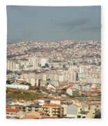 Above Lisbon Portugal Fleece Blanket