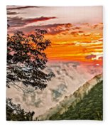 Above The Clouds - Paint Fleece Blanket