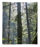 Above The Firs Fleece Blanket