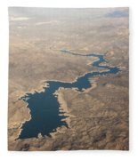 Above The Rocky River Fleece Blanket