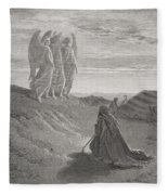Abraham And The Three Angels Fleece Blanket