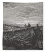 Abraham Journeying Into The Land Of Canaan Fleece Blanket