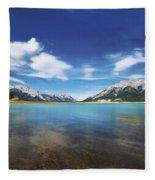 Abraham Lake Alberta Canada Fleece Blanket
