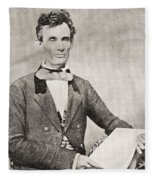 Abraham Lincoln, 1809 – 1865, Seen Here In 1854.  16th President Of The United States Of America Fleece Blanket