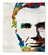 Abraham Lincoln Art - Colorful Abe - By Sharon Cummings Fleece Blanket