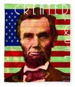 Abraham Lincoln Gettysburg Address All Men Are Created Equal 20140211p68 Fleece Blanket