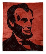 Abraham Lincoln License Plate Art Fleece Blanket