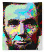 Abraham Lincoln Portrait - Abstract Fleece Blanket