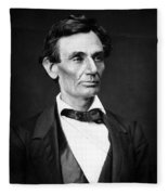 Abraham Lincoln Portrait Fleece Blanket