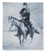 Abraham Lincoln Riding His Judicial Circuit Fleece Blanket
