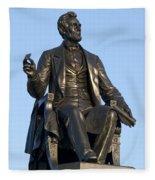 Abraham Lincoln Statue Philadelphia Fleece Blanket