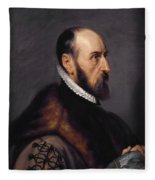 Abraham Ortelius Fleece Blanket