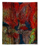 Abstract - Emotion - Annoyance Fleece Blanket