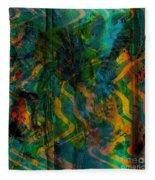 Abstract - Emotion - Apprehension Fleece Blanket