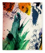 Abstract - Splashes Of Color Fleece Blanket