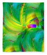 Abstract 019 Fleece Blanket