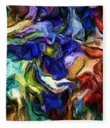 Abstract 082713b Fleece Blanket