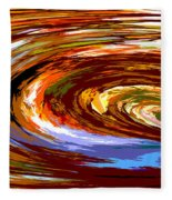 Abstract #140814 - Inside The Pipeline Fleece Blanket