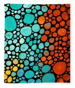 Mosaic Art - Abstract 3 - By Sharon Cummings Fleece Blanket
