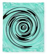 Abstract #5 Fleece Blanket