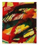 Abstract 73 Fleece Blanket