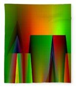 Abstract A018 Fleece Blanket