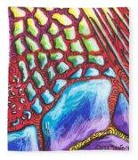 Abstract Animal Print Fleece Blanket
