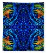 Abstract Art - Center Point - By Sharon Cummings Fleece Blanket